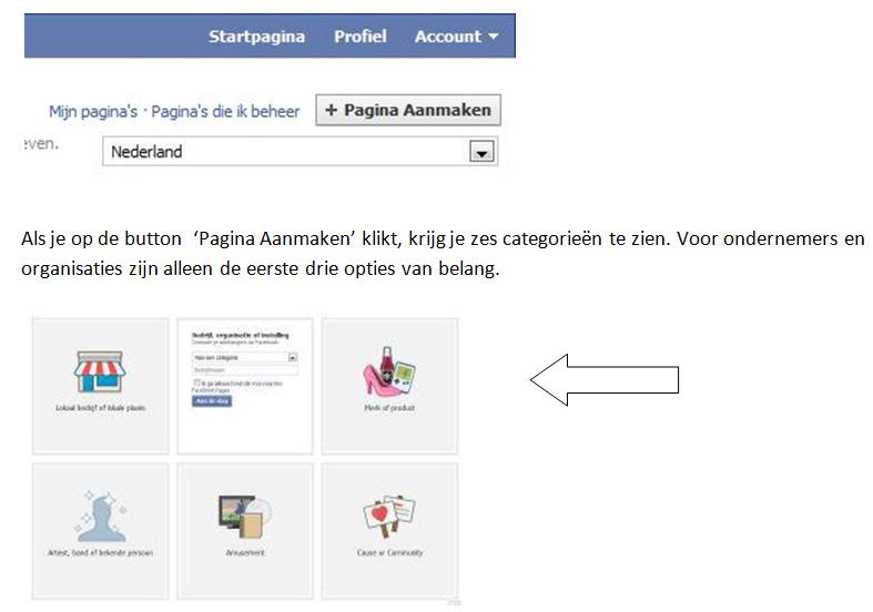 Bedrijfspagina voor Facebook maken