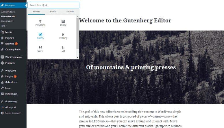 WordPress 5.0 met Gutenberg editor: wat kunnen we verwachten? 2